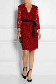 Diane von FurstenbergJulianna lace wrap dress