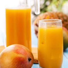 3 Delicious Detox Smoothies for Health Jus D'orange, Fruit Juice, Cantaloupe, Cleanse, Mango, Brunch, Health Fitness, Healthy Eating, Blender