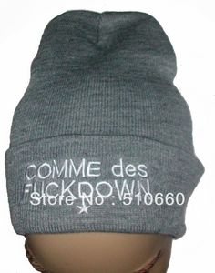 Free Shipping FUCKDOWN BEANIE GREY Hats Caps For Winter WITH WHITE LOGO on AliExpress.com. $9.99