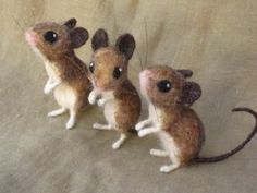 pattern for felt mouse | The Amazing Needle Felted Animals of Hannah Stiles - HOW FABULOUS ARE THESE VERY REAL LOOKING MICE, OUI!! - SO CLEVER!!