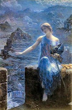 """Valkyrie's Vigil"" by Edward Robert Hughes"