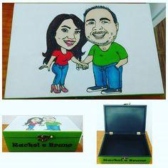 Uma caricatura numa caixa... Muito criativo. #caixapersonalizada #caixamadeira…