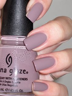 China Glaze Channelesque. My favorite color, just the right blend of chic, elegance, and darkness.