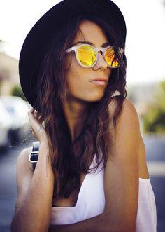 Mexiquer: Retro P3 Round Revo Lens Colorful Sunglasses 8932