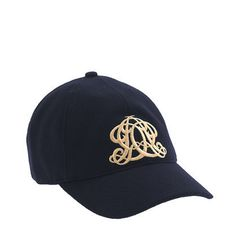Embroidered Emblem Baseball Cap by J. Crew. A perfectly girly baseball cap - weekend wear or bad hair day must.