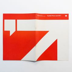 Textile Price List 1971, @knollinc International, New York, catalog front/back covers designed by #MassimoVignelli (#Unimark International, @vignellicenter). Vignelli was a master at using color as an identifier. See more of Vignelli's work in #themodernsbook