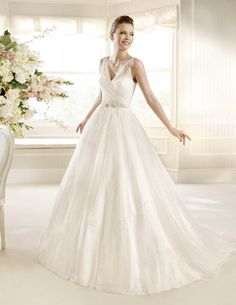 Lovely wedding dresses from La Sposa 2013 Glamour bridal collection. Wedding Dress Film, La Sposa Wedding Dresses, Wedding Dress Necklace, Wedding Dress 2013, V Neck Wedding Dress, Fall Wedding Dresses, Cheap Wedding Dress, Bridal Dresses, Bridesmaid Dresses
