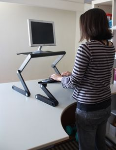 Laptop Standing Desk, Stand Up Desk At Uncagedergonomics Office Nook, Home Office, Standing Desk Benefits, Laptop Cooling Stand, Laptop Stand, Stand Up Desk, Improve Posture, Best Laptops, Cool Stuff