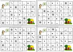Les nombres de 1 à 5: les chemins des nombres du Petit Poucet