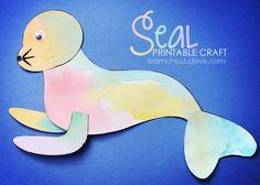 Printable Seal Craft | LearnCreateLove.com