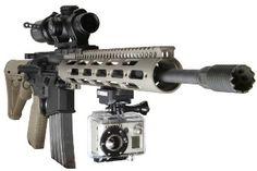 GoPro HD HERO Deluxe Picatinny Rail Gun Mount | Helmet Camera & Helmet Cam Shop - StuntCams