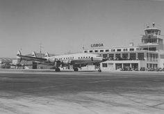 Super Constellation, Lisboa, Aeroporto da Portela, anos 50. Fotografia: Museu da TAP.