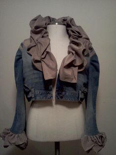 Too funny. I thought this was a great upcycle jean jacket. It's actually upcycled JEANS !!