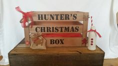 This item is unavailable Christmas Eve Crate, Xmas Eve Boxes, Personalised Christmas Eve Box, Christmas Hamper, Christmas Crafts For Kids, Wooden Crates, Christmas Inspiration, Vinyl Decals, Pallet Projects