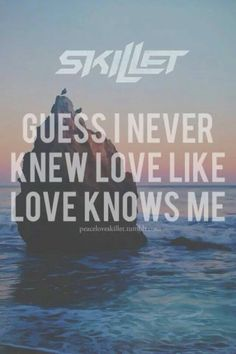 """Guess I never knew love like love knows me,"" --Skillet; Fire And Fury; Rise -- another great worship song!!!"
