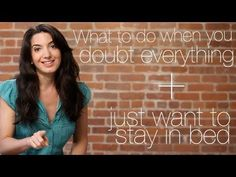 What To Do When You Doubt Everything + Just Wanna Stay In Bed. Press play to learn how to deal with negative thoughts, and get even more advice at www.marieforleo.com.