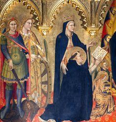 Andrea di Cione, l' Orcagna - Polittico Strozzi, dettaglio - 1357 - Firenze, Basilica di Santa Maria Novella, Cappella Strozzi
