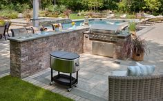 Outdoor entertainment features can transform your home's backyard into a true living space www.techo-bloc.com