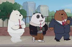 Work those shoulder pads Grizz We Bare Bears Wallpapers, Panda Wallpapers, Cute Wallpapers, Ice Bear We Bare Bears, We Bear, Bear Cartoon, Cute Cartoon, Bear Gif, Berenstain Bears