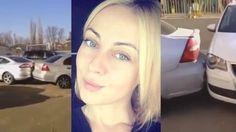 Video: Opitá blondínka pri opúšťaní parkoviska nabúrala do sedemnástich áut!