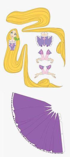 Rapunzel 3D paper doll