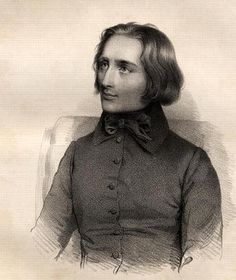 PORTRAIT OF FRANZ LISZT (1811-86) HUNGARIAN PIANO VIRTUOSO AND COMPOSER (ENGRAVING) - FRENCH SCHOOL, (19TH CENTURY)