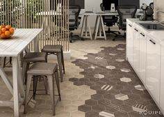 Hexatile Cement Mud, Decor GEO / Hexawood Natural 17,5x20. #industrial, #moderno, #decor, #architecture, #shape, #form, #hexagon, #hexatile, tile, #wall floor tile, #porcelain tile, #bathroom, #kitchen, #dinning room, #saloon, #modern, #traditional, #patchwork, #design, #ceramic, #flooring, #mediterranean, #classic, #style, #contemporary, #indoor, #outdoor, #wall floor tiles, #equipe, #equipe cerámicas, #covering