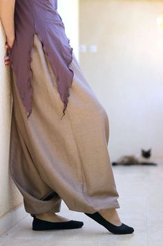 Men's and Women's harem pants - Yoga and Meditation Wear by lunalin on Etsy