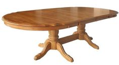 """Country Marketplace - Solid Oak Double Pedestal Table 2- 18"""" self-storing Leaves and 4  Chairs, $1,999.00 (http://www.countrymarketplaces.com/solid-oak-double-pedestal-table-2-18-self-storing-leaves-and-4-chairs/)"""