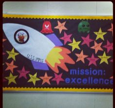 Star themed bulletin board