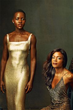Actresses Lupita Nyong'o and Naomie Harris by Annie Leibovitz for the March 2014 issue of Vanity Fair.