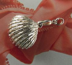 Sterling  silver  clam  shell  pendant | BellaWorxJewelry - Jewelry on ArtFire