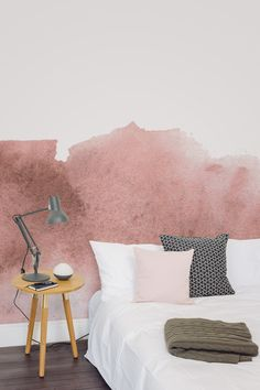 Looking for creative wallpaper ideas? Bring out your artistic side with this beautiful watercolour wallpaper design. The dark yet rich tones of red come together with loose and care-free brushstrokes. Giving an intriguing yet completely unique wallpaper design.