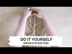 In this video we show you how to make a dream catcher! The only things you need are: - Cardboard circle - A pair of scissors - Tape - Jute rope Follo. Crafts To Make, Easy Crafts, Easy Diy, How To Make Trees, Dream Catcher Craft, Dream Catchers, Diy Dream Catcher Tutorial, Macrame Wall Hanging Diy, Diy Tumblr