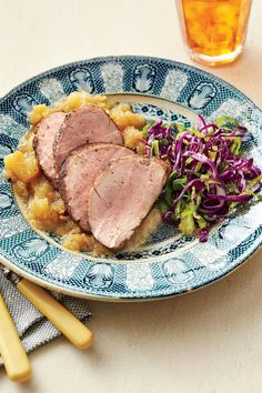 Honey-Glazed Pork Tenderloin w/ Homemade Applesauce - Elegant Holiday Entrées - Southernliving. Recipe:Honey-Glazed Pork Tenderloin with Homemade Applesauce  This casual and elegant meal with be a hit with pork lovers of all ages.