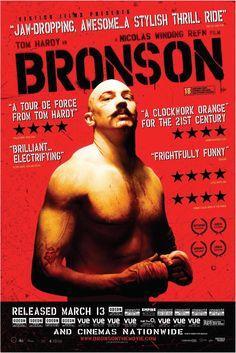 Bronson (2008)-Una de mis películas favoritas de Refn, en la que Tom Hardy demuestra el gran actor que es.