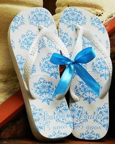 chinelos casamento azul - Pesquisa Google