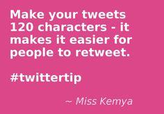 #twittertip: Tweet in 120 chars