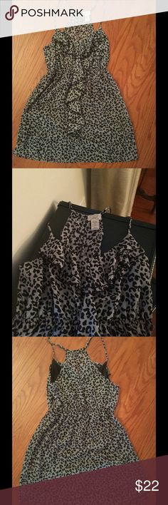 😍Eyelash Couture Dress😍 Super fun dress for Spring and Summer! Animal print ruffled dress with keyhole back turns couture into fun! NWOT ☀️☀️☀️ Eyelash Couture Dresses