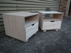 Plywood Bedside Tables by Kristen Montgomery - Bedside Table, Plywood