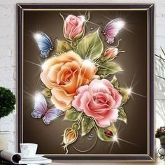 100% Satisfaction Guarantee. *** FREE SHIPPING*** Fun and Relaxing DIY Craft Project. It is Cross Stitch, Paint-by-Number and Mosaic Combined Into One. It's Easy, Fun, Enjoyable And Meditatively Relaxing. Full Area Painting Design Square Rhinestone Diamond Resin. Complete Kit For Diamond Lovers and Beginners. The Finis
