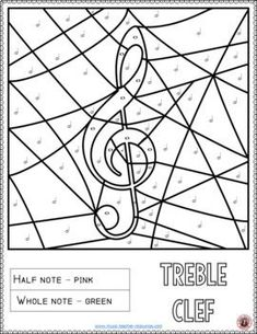 Music Coloring Pages: Music Activities for Music in Our Schools month.  #musiceducation