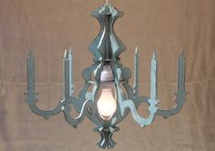 Sandra Chandelier Shabby Chic Something Blue with di iTagStudios, $100.00