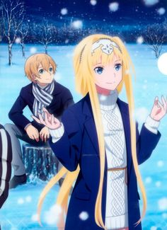 Sword art Online Eugeo and Alice Anime Cupples, Sao Anime, Arte Online, Online Art, Eugeo Sword Art Online, Sword Art Online Wallpaper, Kirito Asuna, Anime Art Girl, Anime Characters