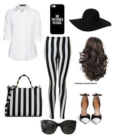"""Black and White affair"" by apples700 ❤ liked on Polyvore featuring Givenchy, Glamorous, Steffen Schraut, Dolce&Gabbana, Casetify, Monki and Chanel"