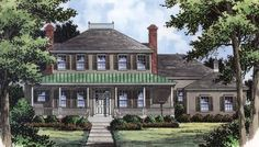 Country House Plan with 3855 Square Feet and 4 Bedrooms(s) from Dream Home Source | House Plan Code DHSW18605