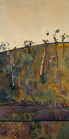 """Yan Yean by Fred Williams, Queensland Art Gallery, Brisbane"" If you are in SA at the moment and love his work there is currently an exhibition at the Art Gallery of South Australia. Abstract Landscape Painting, Landscape Art, Landscape Paintings, Landscapes, Australian Painting, Australian Artists, Fred Williams, Art Folder, Artwork Images"