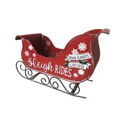 The Seasonal Aisle Weihnachtsschlitten Christmas Wood, Outdoor Christmas, Diy Christmas Gifts, Christmas Decorations, Christmas Ornaments, Christmas Sleighs, Xmas, Santa Sleigh, Warm Blankets