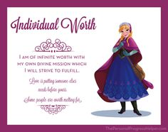 Young Women Value Disney Princess Posters   Individual Worth: Anna