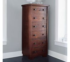 Sumatra Tower Dresser #potterybarn